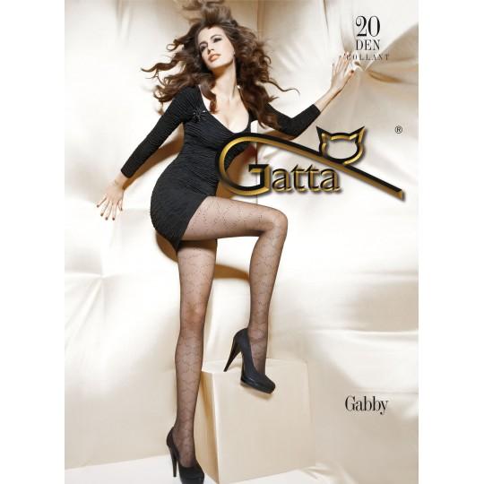 Фантазийные Gatta Gabby №6 (20 den), чёрные, р.3