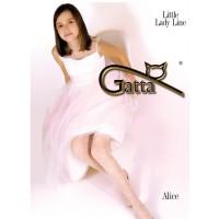 Детские колготки Gatta Alice, белые, размер 116-126 (A)