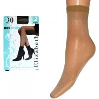 Носки Elizabeth (30den) широкая резинка, невидимый мысок