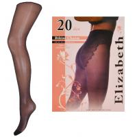 """""""Elizabeth"""" (20 den) с кружевными бикини, чёрные"""