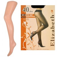 """""""Elizabeth"""" (40 den) HIPSTER WAIST с заниженной талией, бежевые"""